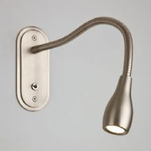 Satin Chrome/Nickel Wall Mounted Reading Lights
